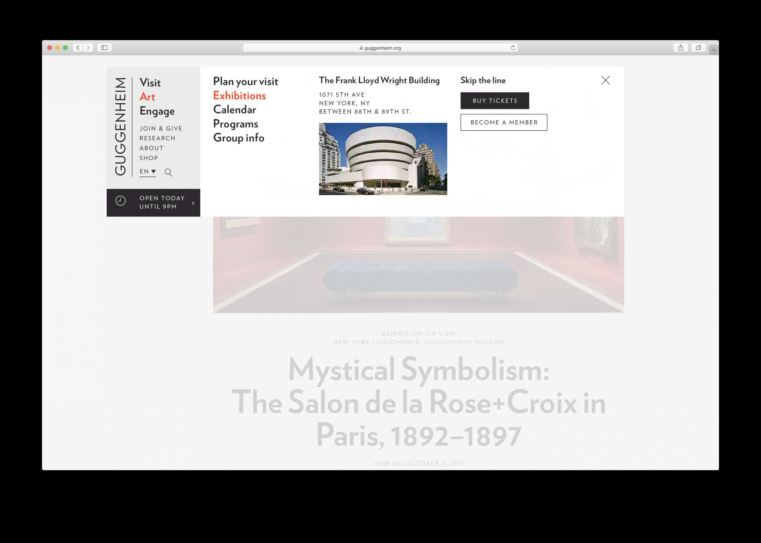 Guggenheim Museum Website Refresh